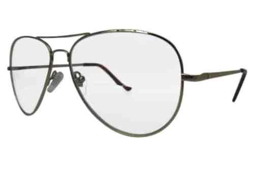 Nebraska Aviator Bifocal Reading Glasses in Gold