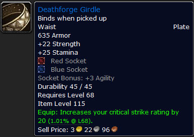 Deathforge Girdle