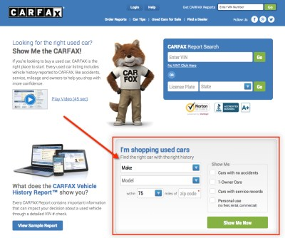 Carfax Introduces
