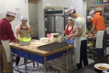 The busy bakers at Bach's