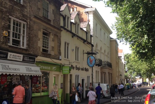 After our tour of the Kilns, we traveled into Oxford, to find the Eagle and Child, where Lewis, Tolkien and other influential writers met weekly to discuss their writings.