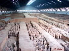 The terra-cotta soldiers are one of the wonders of the ancient world.