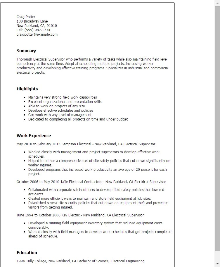 collections manager resumes