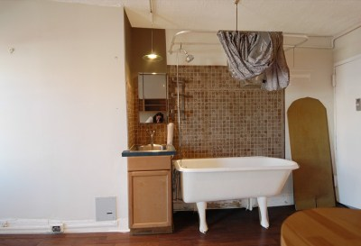 Only in NYC: Bathtub in Kitchen | StreetEasy