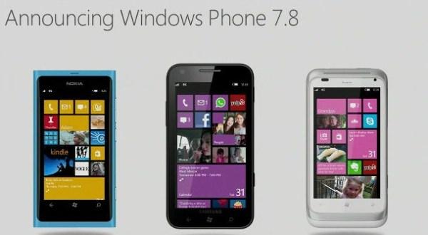 Windows Phone 7.8 Startbildschirm