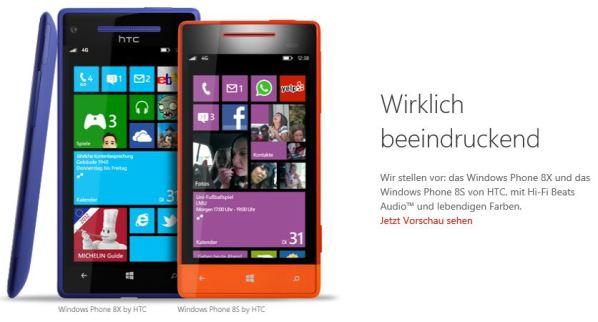 Windows Phone 8X und Windows Phone 8S by HTC auf WindowsPhone.com