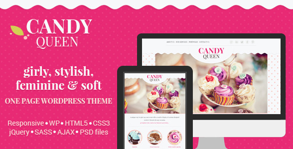 Candy Queen - Responsive Multi-Purpose WordPress Theme