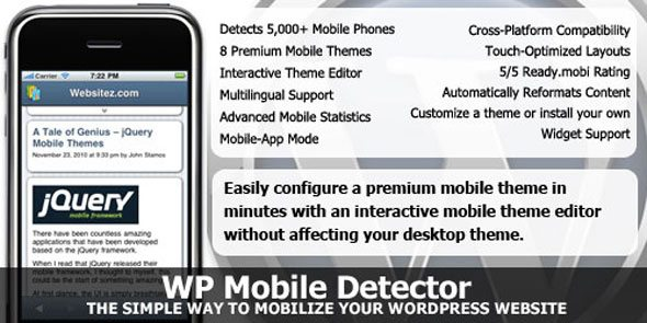 WP Mobile Detector WordPress Mobile
