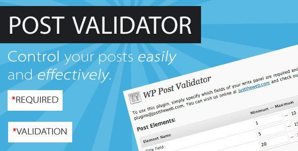 Post Validator