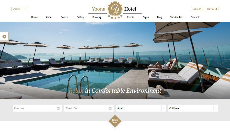 Yoona Hotel & Resort WordPress Theme