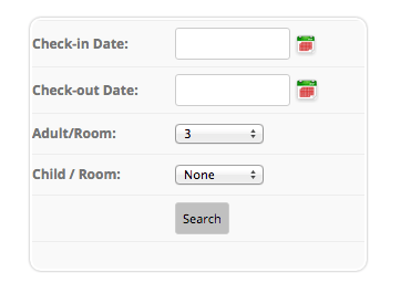 How to build a hotel site using WordPress - Search Form