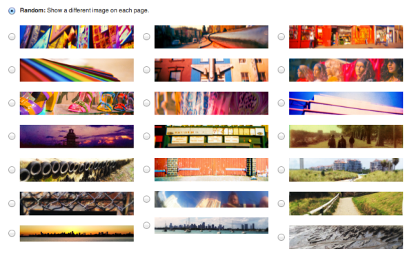 I've defined 21 custom header images. I know it sounds excessive... but it was fun!