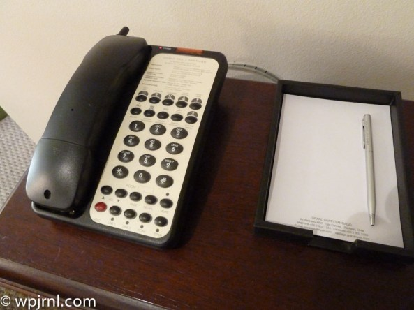 Grand Hyatt Santiago Executive Suite Terrace Wireless Phone and Notepad