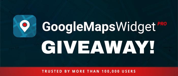 Giveaway: Google Maps Widget for WordPress