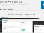 WordPress 3.8 About Page