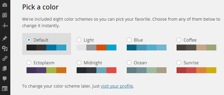 Get More Admin Color Schemes For WordPress 3.8