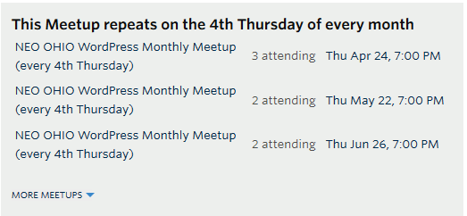Schedule The Meetup To Happen At The Same Time Every Month