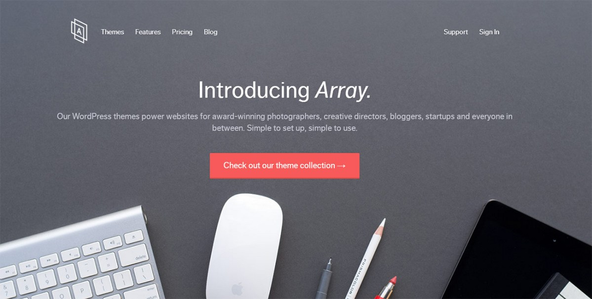 Array Returns to Themeforest After Disappointing Experiences Selling on Creative Market and WordPress.com