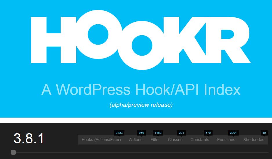 WordPress Hook and API Index