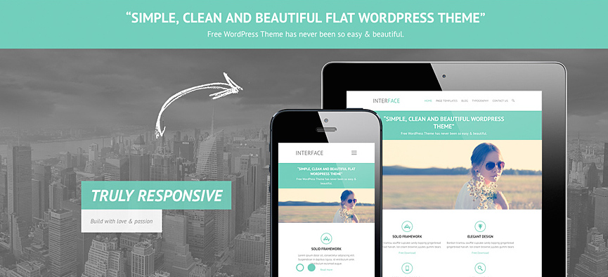 Interface: A Free Responsive Business Theme for WordPress