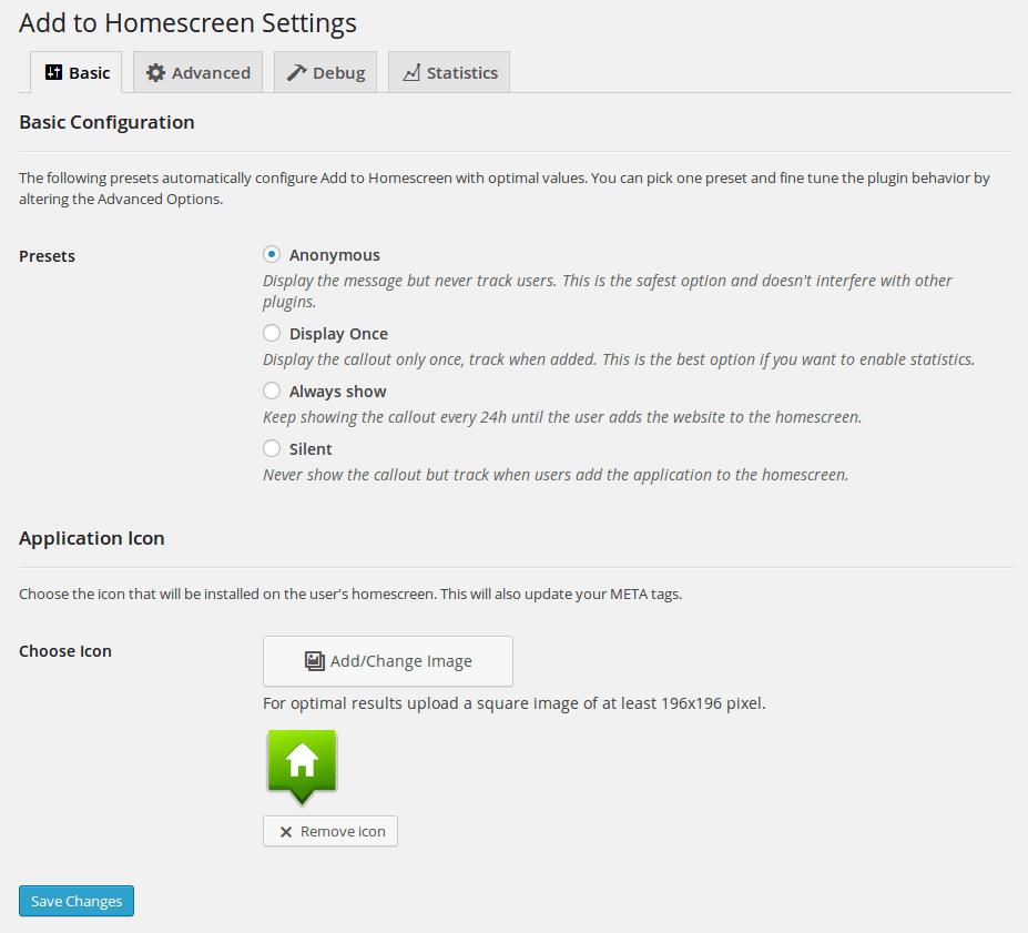 add-to-homescreen-settings