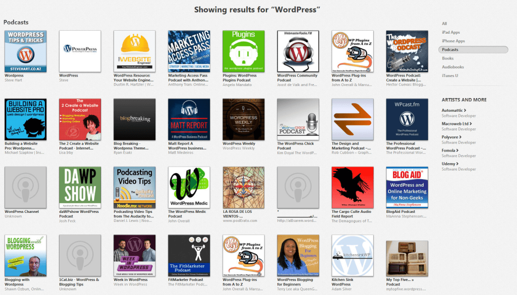 Variety of WordPress Podcasts To Listen To On iTunes