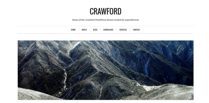 Crawford: A Free Minimalist WordPress Theme for Writers