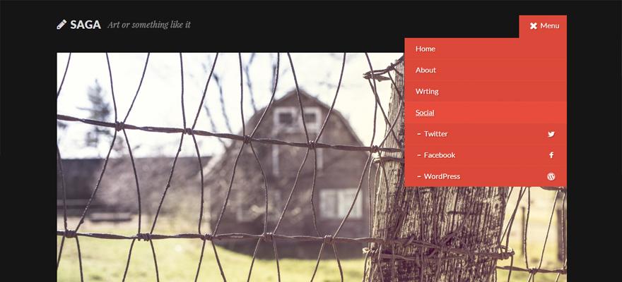Saga: A Free WordPress Theme for Writers from Theme Hybrid