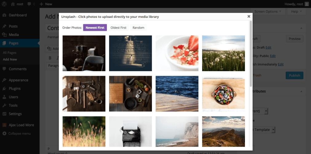 Unsplash Plugin Brings One-Click Stock Photo Uploads to the WordPress Media Library