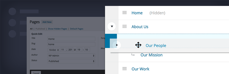 Nested Pages for WordPress: An Intuitive Drag-and-Drop Interface for Managing Pages