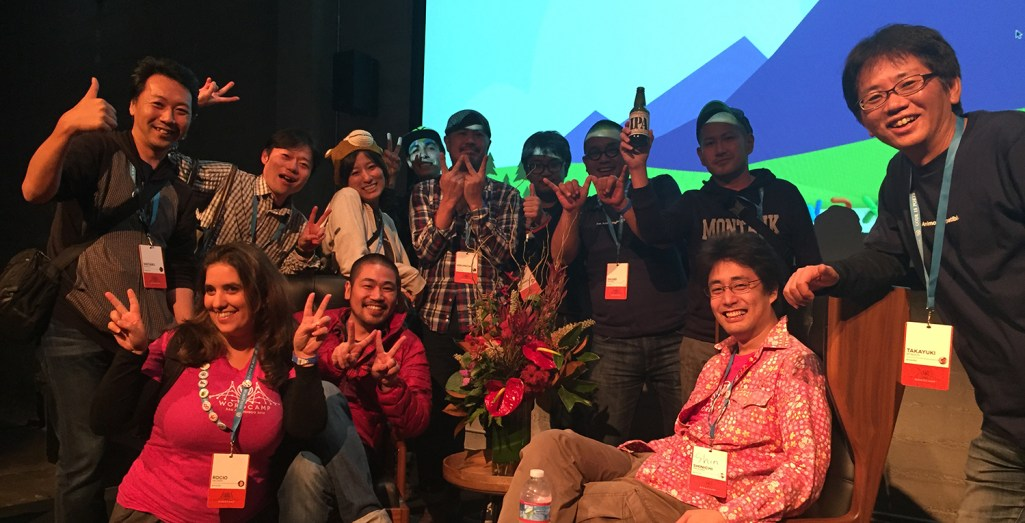 Japanese WordPress community representatives at WordCamp San Francisco 2014