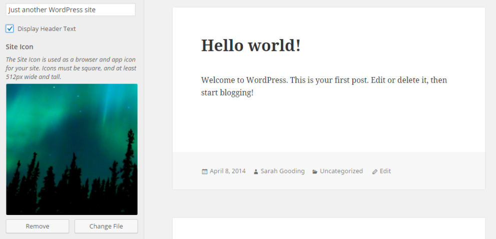 WordPress 4.3 Beta 3 Adds Site Icon Feature to the Customizer