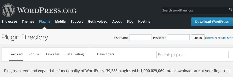 WordPress Plugin Directory Surpasses One Billion Total Downloads