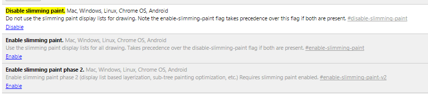 Disable Slimming Paint Options