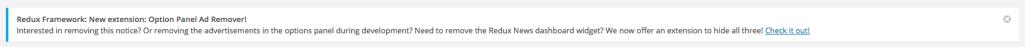 Redux Framework Admin Notice