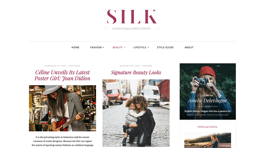 Silk Lite: A Free WordPress Magazine Theme for Fashion Bloggers