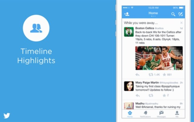 Twitter for iOS now highlights tweets you missed 'while you were away'