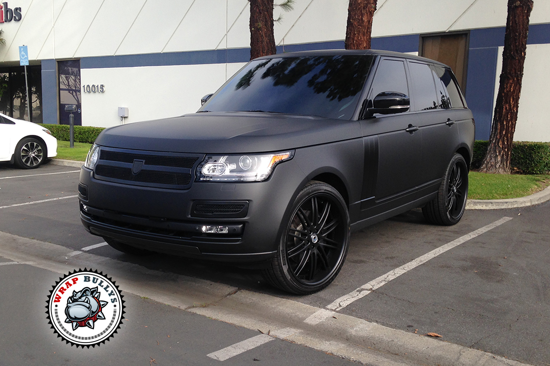 Chevy Truck Commercial Range Rover Autobiography Wrapped in 3M Deep Matte Black ...
