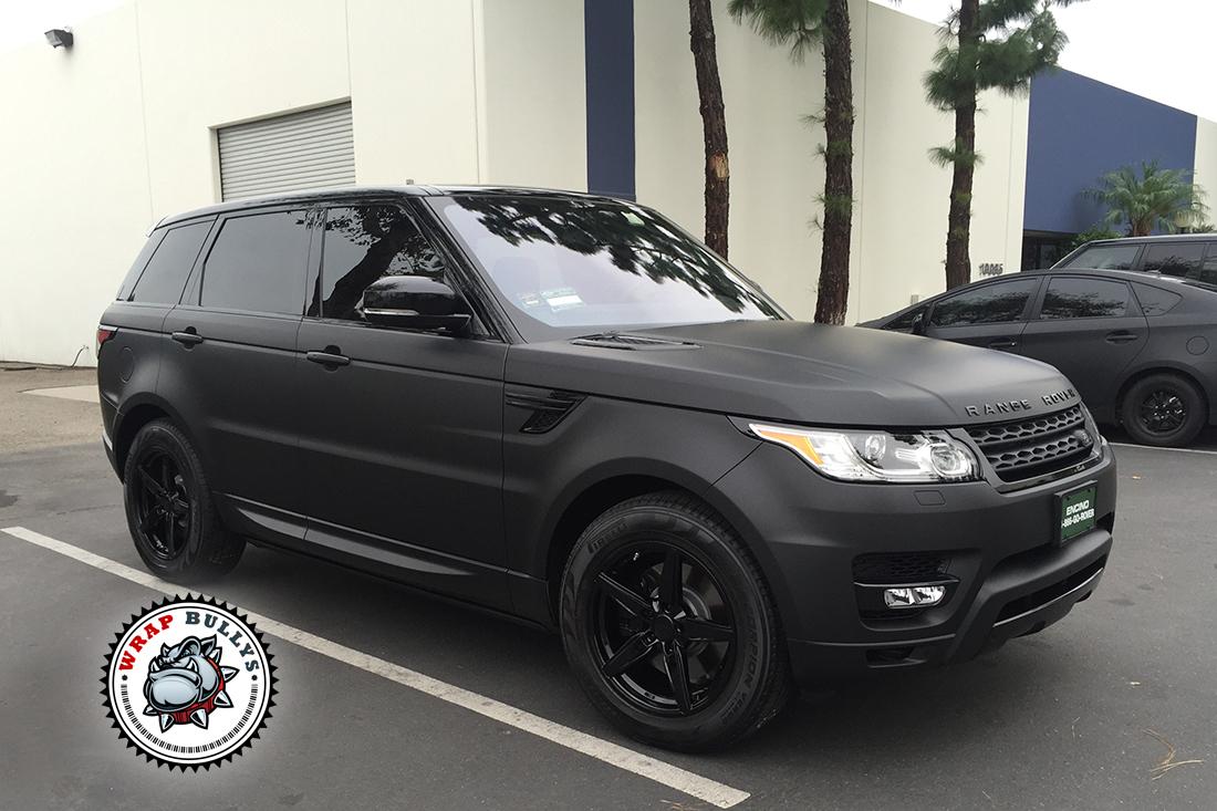 Range Rover Sport Wrapped in 3M Deep Matte Black | Wrap Bullys