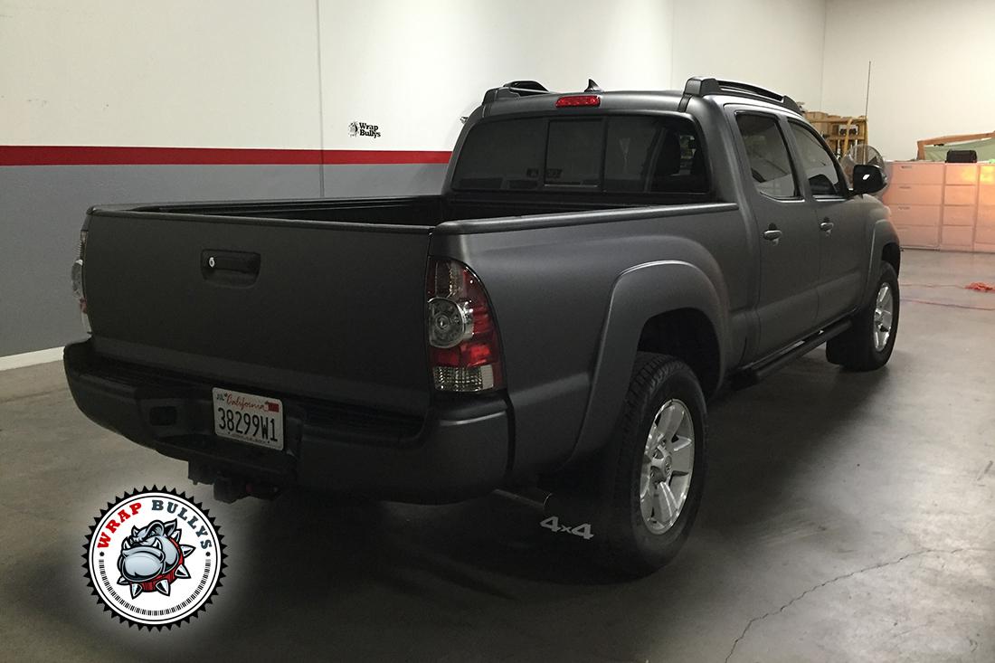 Matte Gray Toyota Tacoma Wrap Wrap Bullys Vehicle
