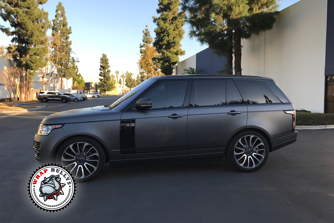 Matte Gray Range Rover Supercharged Autobiography Wrap