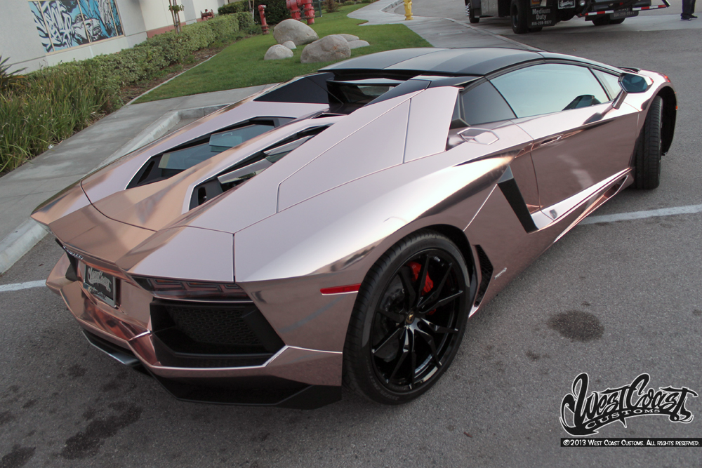Tyga S Rose Gold Chrome Aventador Wrapfolio