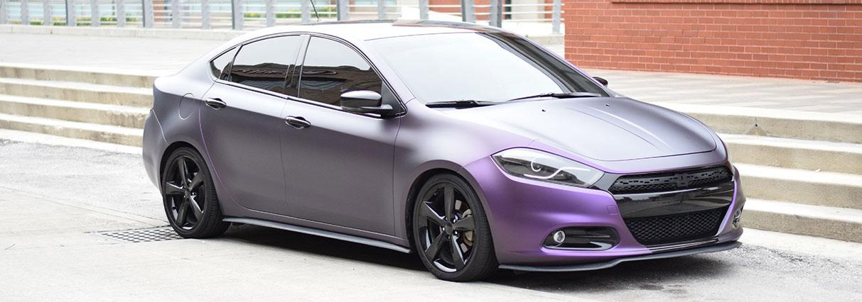 KPMF Purple Black Iridescent Dart Wrap