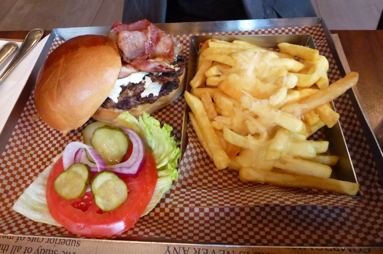 Burger and cheese fries at BRGR.co