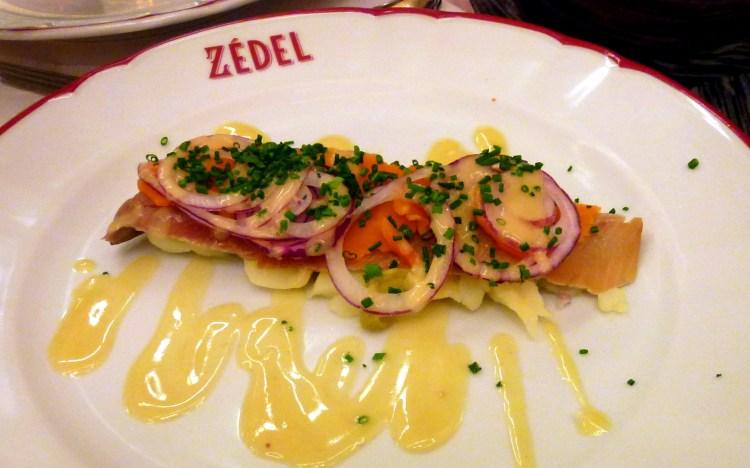 Smoked haddock at Brasserie Zedel