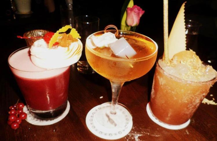 Pink Chihuahua, Crysanthemum, Sweet Dreams cocktails at bar nightjar