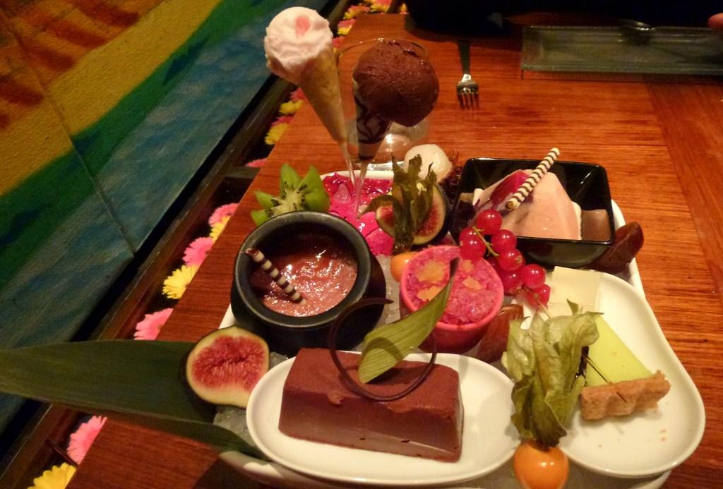 Dessert platter - kulfi, sorbet, granita, brulee, tart, rasmalai at amaya