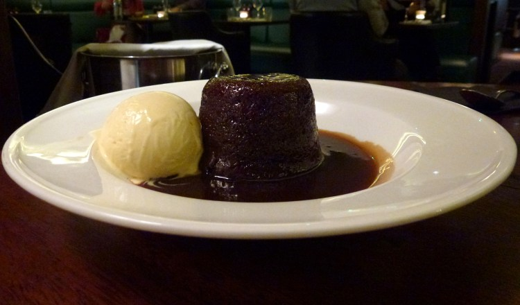 Sticky toffee pudding at Hawksmoor air street