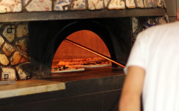 Wood-burning pizza oven Franco Manca Chiswick