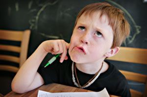 Is your child unable to concentrate? Changing his handwriting can help